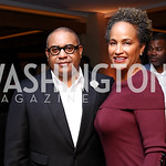 A. Scott Bolden and Erika Martin. Photo by Tony Powell. Nobu DC Opening Sake Ceremony. October 29, 2017