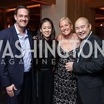 Ian Alberg, Anne Yamamoto, Mary Alberg, Leong Loh. Photo by Tony Powell. Nobu DC Opening Sake Ceremony. October 29, 2017