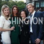Meghan Thurlow, Tara DiJulio, Ke Ji, Josef Skoldeberg. Photo by Tony Powell. Reception Honoring Miss America 2018. September 27, 2017