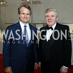 "Bank of America CEO Brian Moynihan, Former Sen. Ben Nelson. Photo by Tony Powell. ""The Vietnam War"" Preview Screening. Kennedy Center. September 12, 2017"