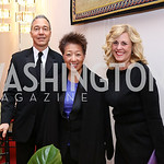 Christopher Zunner, Jane Chu, Kimberly Watson. Photo by Tony Powell. 2018 Alvin Ailey DC Gala. Kennedy Center. February 6, 2018