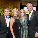 TEGNA President and CEO Dave Lougee, Danni Lougee, Susan Muir and Capital Caring Chief Innovation Officer Dr. Cameron Muir. Photo by Tony Powell. 2018 Capital Caring Gala. Marriott Marquis.  ...