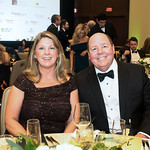 Debbie Faubion and Wise Hospice Options President Grant Faubion. Photo by Tony Powell. 2018 Capital Caring Gala. Marriott Marquis. November 17, 2018