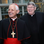 Cardinal Donald Wuerl, Monsignor John Enzler. Photo by Tony Powell. 2018 Catholic Charities Gala. Marriott Marquis. April 7, 2018
