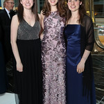 Marisel Wilbur, Amy Mulvey, Clarissa Wilbur. Photo by Tony Powell. 2018 Catholic Charities Gala. Marriott Marquis. April 7, 2018