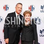 Tom Hanks, Elizabeth Dole. Photo by Tony Powell. 2018 Heroes and History Makers. Washington Hilton. November 29, 2018