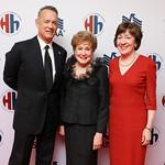 Tom Hanks, Elizabeth Dole, Sen. Susan Collins. Photo by Tony Powell. 2018 Heroes and History Makers. Washington Hilton. November 29, 2018