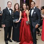 John Lepore and Christina Gungoll Lepore, Manisha and Roy Kapani. Photo by Tony Powell. 2018 Meridian Ball. October 12, 2018