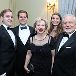 Will Gale, Jamie Gale, Lisa Barry, Elizabeth Elcan and Jim Gale. Photo by Tony Powell. 2018 Meridian Ball. October 12, 2018