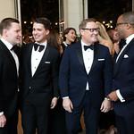 Nick Schmit, Michael Zingali, Timothy Lowery, Jonathan Capehart. Photo by Tony Powell. 2018 Meridian Ball. October 12, 2018