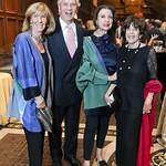 Wendy Benchley and John Jeppson, Aniko Gaal Schott, Didi Cutler. Photo by Tony Powell. 2018 PENFaulkner Gala. Folger Library. September 24, 2018