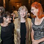 Joan Silber, Deborah Tannen, Mary Kay Zuravleff. Photo by Tony Powell. 2018 PENFaulkner Gala. Folger Library. September 24, 2018