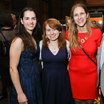 Adrianna Smith, Rhaina Cohen, Julia Dean. Photo by Tony Powell. 2018 PENFaulkner Gala. Folger Library. September 24, 2018