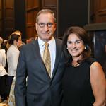 John Melnicki, Cindy Howar. Photo by Tony Powell. 2018 PENFaulkner Gala. Folger Library. September 24, 2018