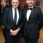 Michael Kahn, Simon Godwin. Photo by Tony Powell. 2018 Shakespeare Theatre Co. Gala. Building Museum. October 14, 2018