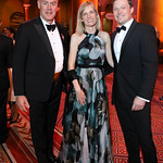 Interior Sec. Ryan Zinke, Ulla Ronberg and Denmark Amb. Lars Lose. Photo by Tony Powell. 2018 Shakespeare Theatre Co. Gala. Building Museum. October 14, 2018