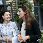 Alexandra de Borchgrave, Kosovo Amb. Vlora Citaku. Photo by Tony Powell. 2018 Welcome Summer Party. Villa Firenze. June 19, 2018