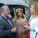 Czechoslovakia Amb. Hynek Kmonicek, Indira Gumarova, Susan Pompeo. Photo by Tony Powell. 2018 Welcome Summer Party. Villa Firenze. June 19, 2018