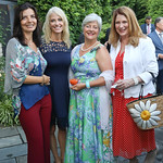 Micaela Varricchio, Kellyanne Conway, Martha Ann Alito, Susan Pompeo. Photo by Tony Powell. 2018 Welcome Summer Party. Villa Firenze. June 19, 2018