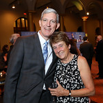 WC Board Chair and Presenting Sponsor Marty Durbin, WC Board member Pam Feinstein. Photo by Tony Powell. 2018 Wider Circle Community Ball. Building Museum. September 27, 2018