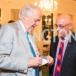 Sir Tim Rice, David Hamilton, Photo by Alfredo Flores. An evening with Sir Tim Rice. The British Embassy. February 13, 2018.