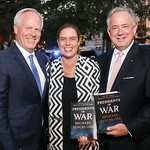 """Tim McBride, Courtney and Christopher Burnham. Photo by Tony Powell. Beschloss """"Presidents of War"""" Book Party. Decatur House. October 3, 2018"""