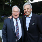 "Lloyd Hand, Stuart Bernstein. Photo by Tony Powell. Bob Woodward ""Fear"" Book Party. Brown Residence. October 3, 2018"