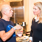 Steve Hilton, Marci Harris,   Photo by Alfredo Flores. Book Party for Steve Hilton. Juleanna Glover's residence. October 10, 2018