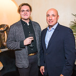 Will Glover, Tim Sparapani  , Photo by Alfredo Flores. Book Party for Steve Hilton. Juleanna Glover's residence. October 10, 2018