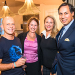 Steve Hilton, Lorelei Kelly, Marci Harris, Avik Roy.  Photo by Alfredo Flores. Book Party for Steve Hilton. Juleanna Glover's residence. October 10, 2018