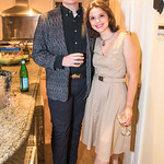 Will Glover , Veronika Velch,   Photo by Alfredo Flores. Book Party for Steve Hilton. Juleanna Glover's residence. October 10, 2018