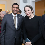 Rep. Ro Khanna, Heather Podesta. Photo by Tony Powell. Celebrating Kara Swisher. Bankoff Residence. November 19, 2018