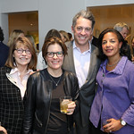Margaret Carlson, Kara Swisher, Jim Bankoff, Susan Rice. Photo by Tony Powell. Celebrating Kara Swisher. Bankoff Residence. November 19, 2018