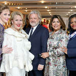 Patricia Trudeau, Marsha Muawwad, William Eubanks, Charo Abrams, Gwendolyn Russell. Photo by Tony Powell. 2018 Colorectal Brunch. Cafe Milano. December 10, 2018
