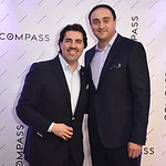 Andre Perez, Camilo Bermudez. Compass Real Estate Arlington Opening. February 22, 2018. Amanda Warden.