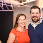Emily Vuono, Kyle Geoffrion. Compass Real Estate Arlington Opening. February 22, 2018. Amanda Warden.