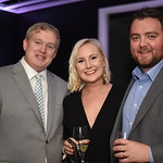 John Eric, Maddy Glista, Michael Galiey. Compass Real Estate Arlington Opening. February 22, 2018. Amanda Warden.