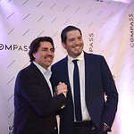 Andre Perez, Sebastian Martinez. Compass Real Estate Arlington Opening. February 22, 2018. Amanda Warden.