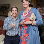Leah Perkinson, Stephanie Scholz. Photo by Tony Powell. Conversation with Ashley Judd. Romano Residence. July 18, 2018