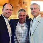 Ward Melhuish, Chris Doran and George Van Tassel,  Creighton Farms Invitational Dinner, June 25, 2018, Nancy Milburn Kleck