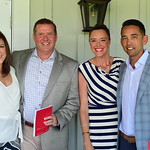 Wesley and Griff Harrison, and Amanda and Sean Fritts,  Creighton Farms Invitational Dinner, June 25, 2018, Nancy Milburn Kleck