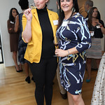 Erin Scala, Pia Pinkell. Photo by Tony Powell. Early Mountain Wine Tasting. Case Residence. September 10, 2018