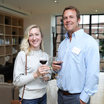 Elyse Smith, Don Roden. Photo by Tony Powell. Early Mountain Wine Tasting. Case Residence. September 10, 2018