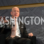 Jeff Bezos Speaks, at Economic Club of Washington, DC 32nd Milestone Celebration, on The David Rubenstein Show.  September 13, 2018, photo by Ben Droz.