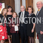Pilar O'Leary, Michelle Freeman, Irma Frank, Ambassador Camilo Reyes, Gloria Ritter de Reyes, Richard Frank. Photo by Erin Schaff. 2018. The Latin Lovers Soiree. Ambassador of Colombia's ...