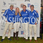 Netjets Team Captain John Gobin, Danielle Quinn, David Greenhill, Tolito Ocampo, NSLM 8th Annual Polo Classic Luncheon, Sept 9, 2018, Nancy Milburn Kleck
