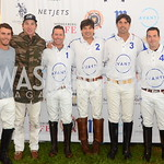 Justo Mourino, Tolito Ocampo, Avant Team Members Bill Ballhaus, David Tafuri, Nacho Figueras, Kip Hayes, NSLM 8th Annual Polo Classic Luncheon, Sept 9, 2018, Nancy Milburn Kleck