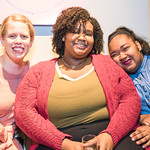 Liz Anderson, Kiandra  Price, Keyla Ryland.  Photo by Alfredo Flores. Sasha Brue Youthworks supporter thank you party. Addison Ripley Fine Art. November 8, 2018