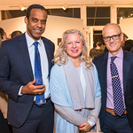 Mark Ball, Natalie Jennings , Bruce Becker.  Photo by Alfredo Flores. Sasha Brue Youthworks supporter thank you party. Addison Ripley Fine Art. November 8, 2018