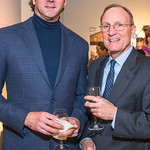 Timothy Watkins, Larry Fullerton. Photo by Alfredo Flores. Sasha Brue Youthworks supporter thank you party. Addison Ripley Fine Art. November 8, 2018
